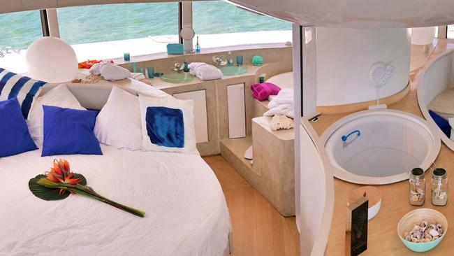 The 50sq m circular floating home has a full 360-degree view. Picture: Anthenea/Cover Images/AAP