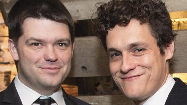 Christopher Miller, left, and Phil Lord are no longer involved in the Han Solo film. Picture: Scott Roth/Invision/AP, File