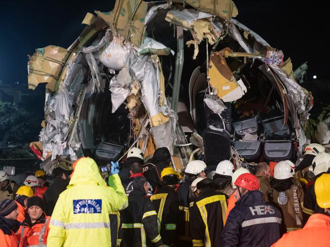 Dozens of passengers were injured when the plane broke apart, but all 183 people onboard are said to have survived. Picture: Getty