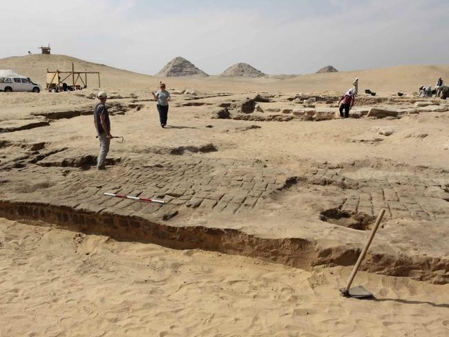 The temple may shed light on the life of the pharaoh of the 19th Dynasty, over 3,200 years ago. (Egyptian Ministry of Antiquities via AP)