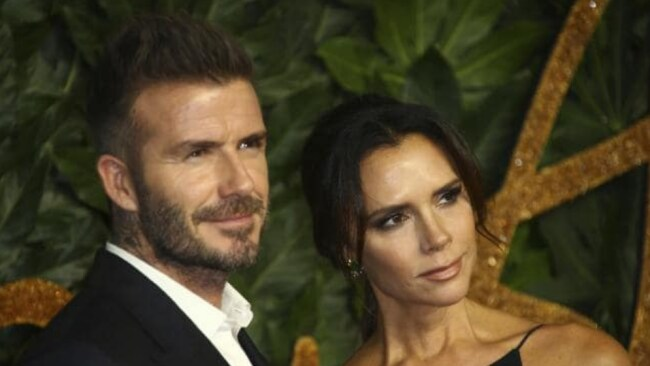 David Beckham, left, and designer Victoria Beckham. Picture: Invision/APSource:AP