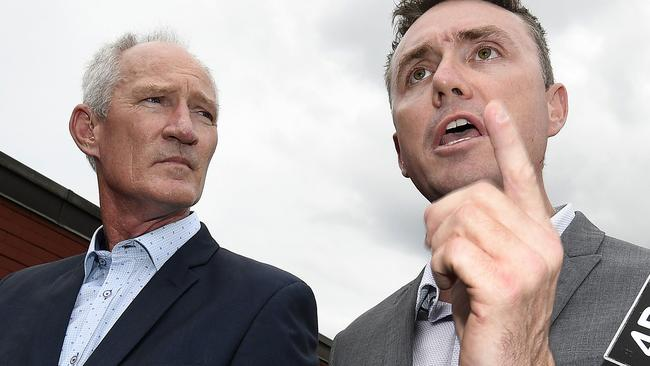 Mr Dickson and Mr Ashby. Picture: AAP