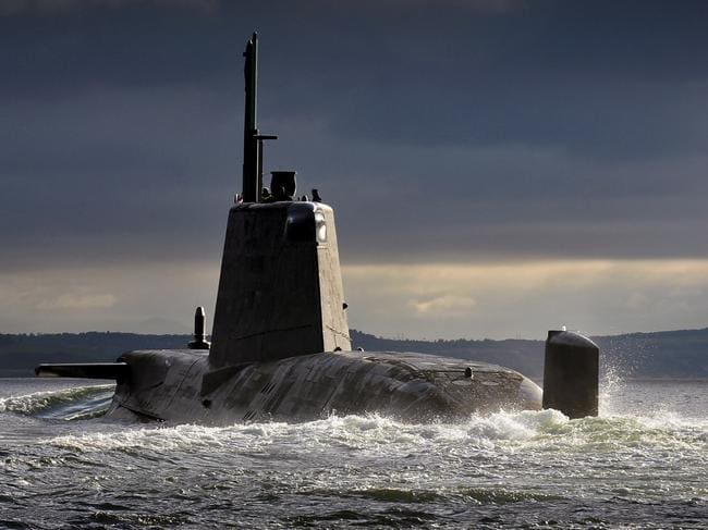 HMS Ambush returning to Clyde in Scotland. Picture: Royal Navy