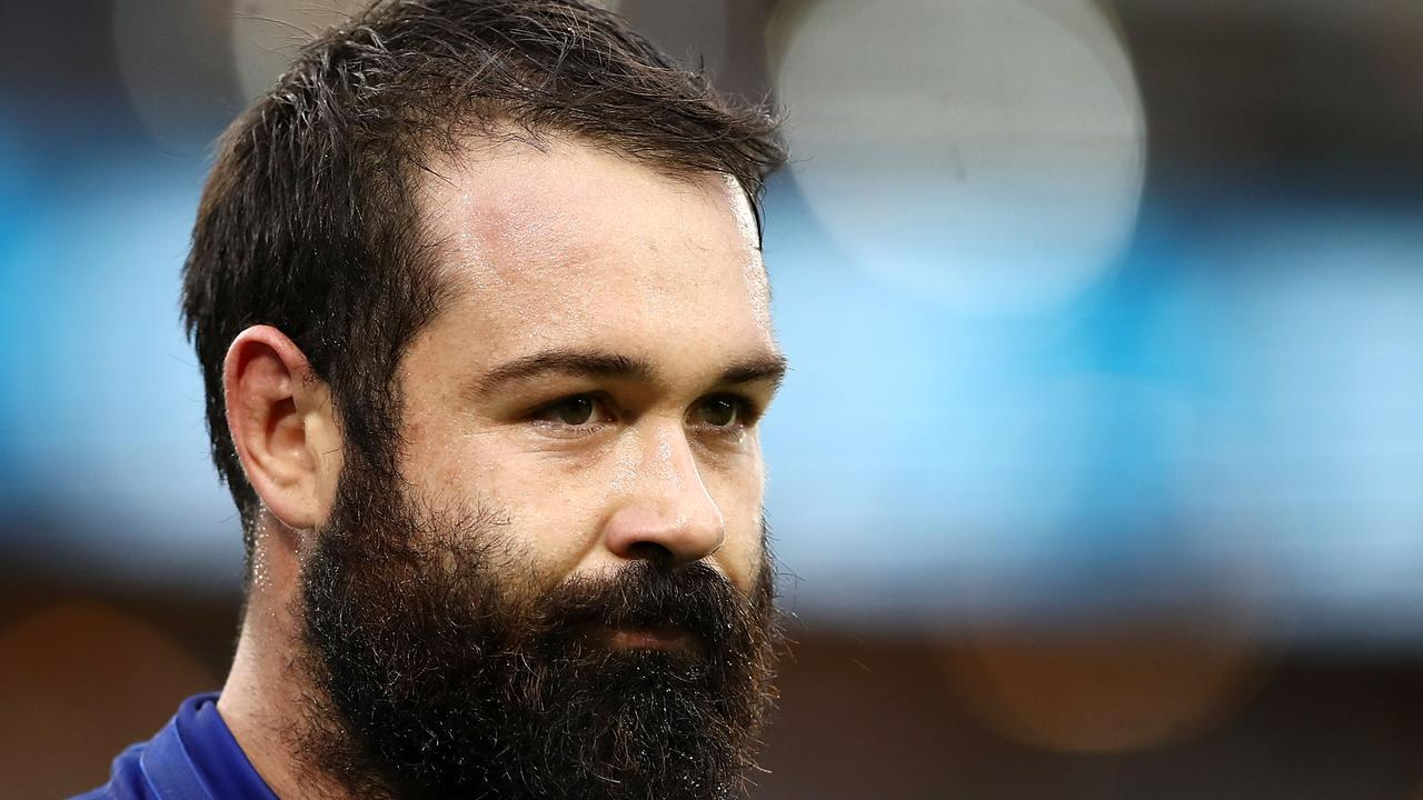 Aaron Woods may have played his last game for the Bulldogs. (Photo by Mark Kolbe/Getty Images)