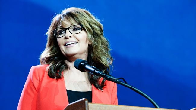 Sarah Palin: 'Ya got me, Sacha. Feel better now?' Picture: AFP