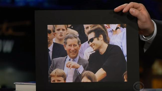 David Duchovny with Prince Charles at a concert.