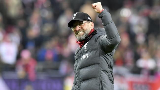 Liverpool manager Jurgen Klopp has signed a new deal with the club until 2024. Picture: AP