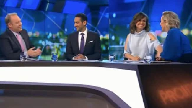 Lisa Wilkinson held hands with Fifi Box as she discussed her pregnancy Source: Channel 10