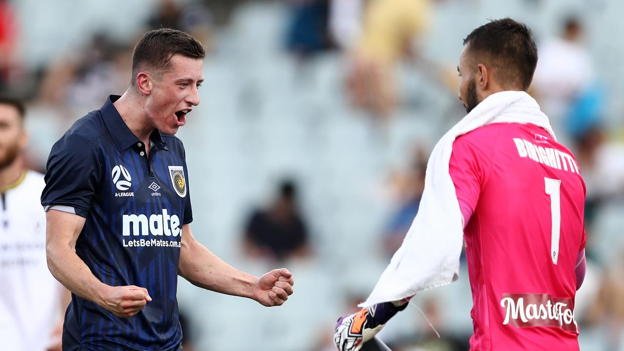 The Mariners claimed a 13-year milestone on Sunday night before Adelaide stunned Melbourne City.