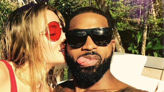 Khloe Kardashian reportedly went into labour when she found out boyfriend Tristan Thompson had been unfaithful. Picture: Khloe Kardashian/Instagram