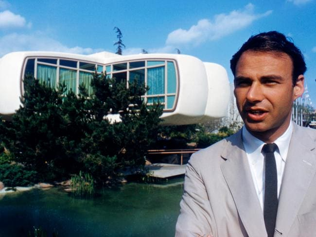 Architect Marvin Goody outside the house. Picture: Alamy
