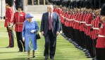 Trump even walked in front of Her Majesty at one point... yikes. Photo: Getty Images