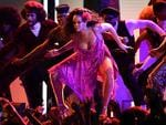 Rihanna performs onstage during the 60th Annual GRAMMY Awards at Madison Square Garden on January 28, 2018 in New York City. Picture: AFP