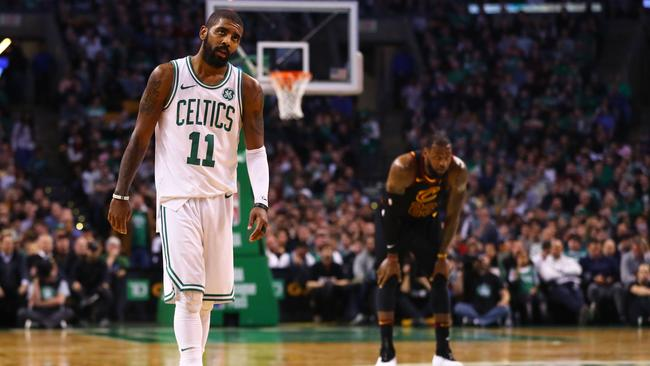 Former teammates Kyrie Irving and LeBron James came face-to-face again.