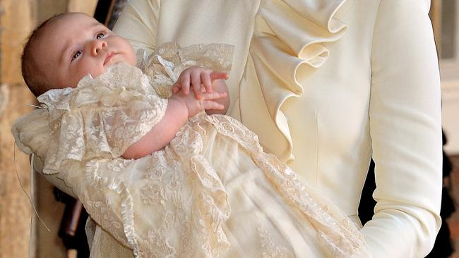 Prince George at his christening in 2013. Picture: John Stillwell/WPA Pool/Getty Images