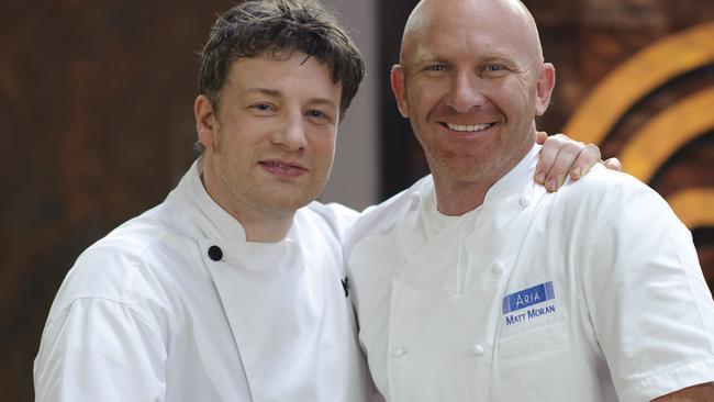 Jamie Oliver and Matt Moran on Australian MasterChef.