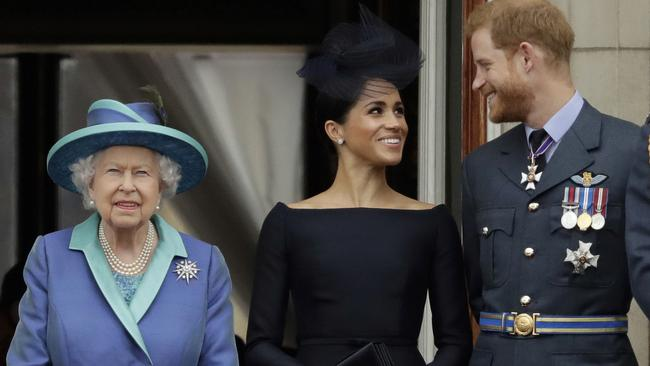 The Sussexes have sent a message to the Queen with their Instagram activity. Picture: Matt Dunham/AP