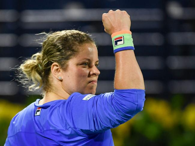 It's a brilliant start for the returning Kim Clijsters.