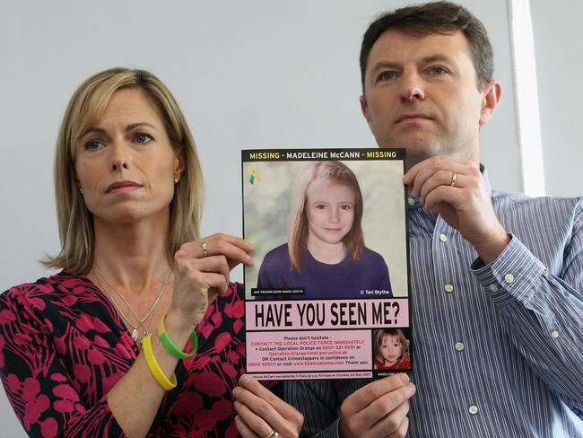 More than 10 years have passed since Madeleine McCann disappeared but police continue to pursue fresh leads. Picture: Getty Images