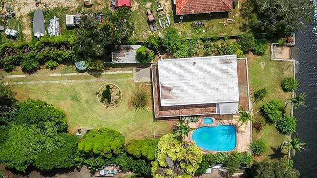 The property is set on an enormous 2238sqm block.