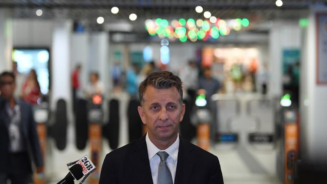 Labor has laid the blame for crowded trains on the shoulders of NSW Transport Minister Andrew Constance. Picture: AAP Image/Dean Lewins.