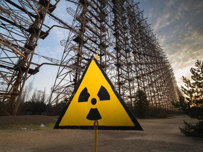 The abandoned radar system near the Chernobyl nuclear power plant.