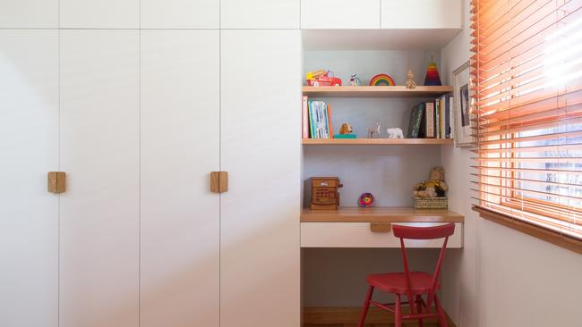 A study nook saves on space.
