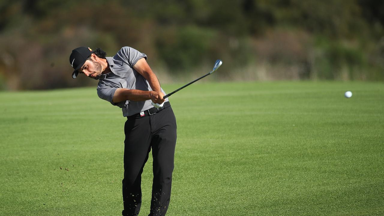 Abraham Ancer of Mexico plays his second at the 17th