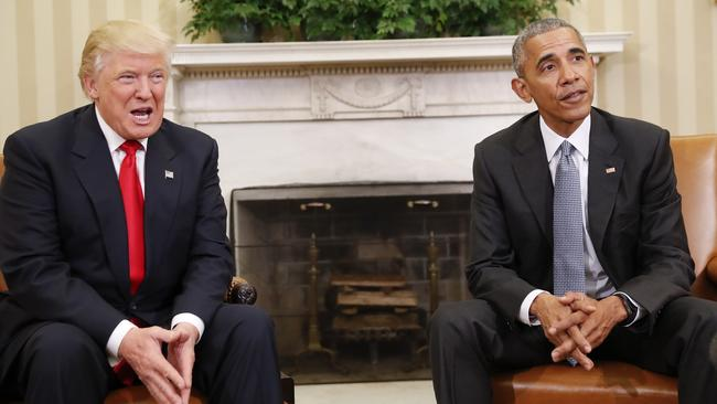 Mr Trump's use of 'Make America Great Again' is a sly condemnation of the Obama Presidency. Picture: AP Photo/Pablo Martinez Monsivais.