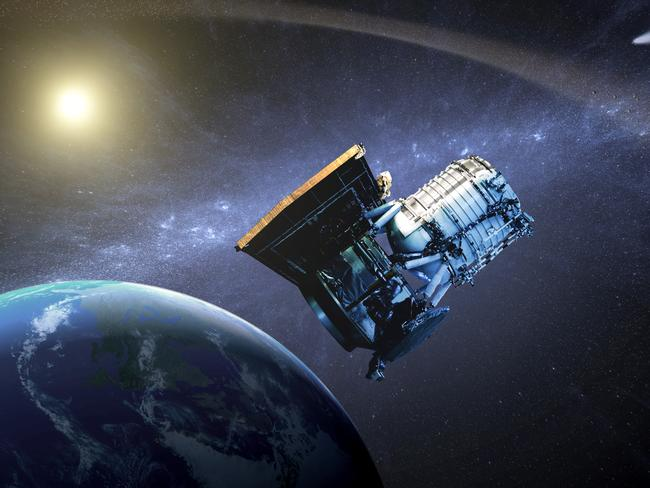 """Excess energy .... The Wide-field Infrared Survey Explorer is being used to search for the """"exhaust trails"""" of alien civilisations. Source: NASA"""