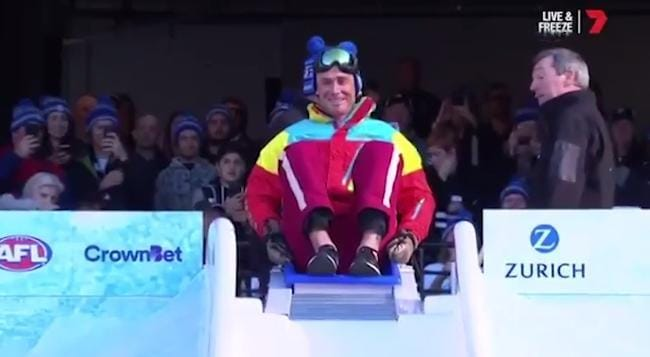 (7 News) AFL coaches take the icy plunge for the Big Freeze