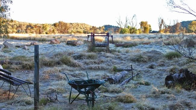 Frosty ... Alice Springs can prepare themselves for their coldest four-day spell in three years with an average of only eight degrees, combining night-time and daytime temperatures.