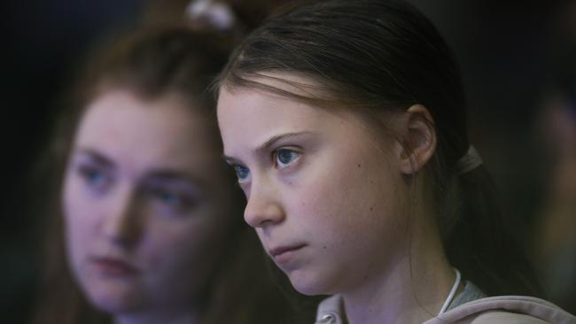 Swedish environmental activist Greta Thunberg attends the World Economic Forum in Davos.