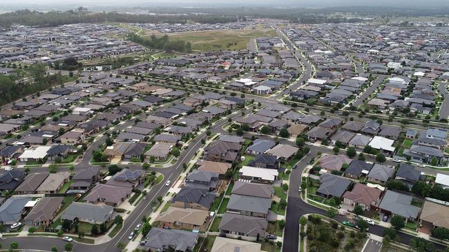 Oran Park is a rapidly growing suburb in Sydney's southwest. Picture: Sam Ruttyn
