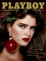 Brooke Shields on the cover of Playboy magazine, December 1986. Picture: Playboy