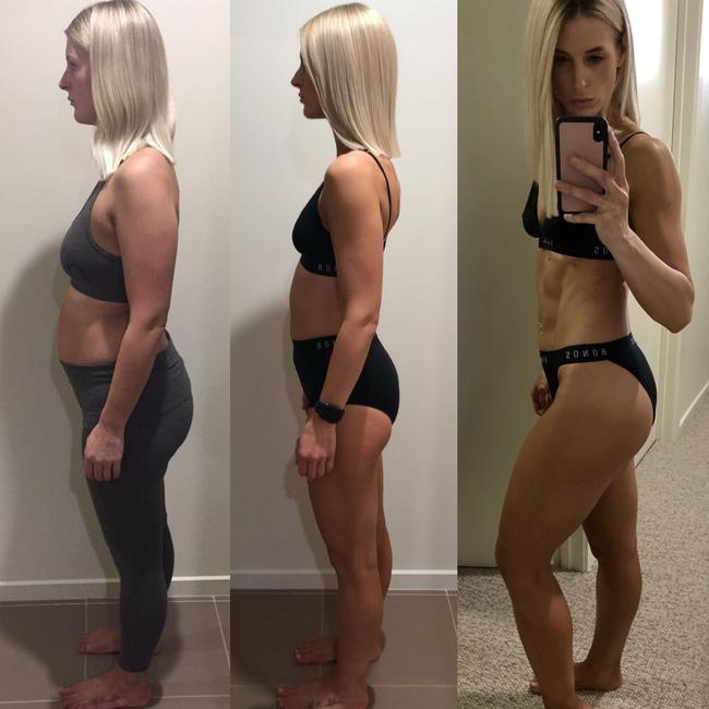 Tess Papaioannou, 27, lost a total of 32kg between her two pregnancies.