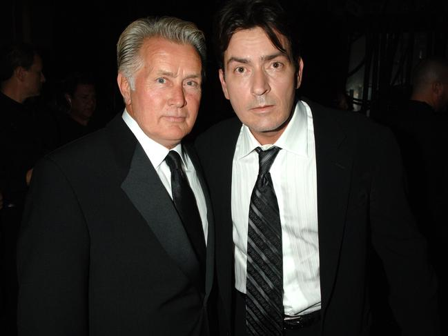 Martin Sheen and Charlie Sheen. Picture: Jeff Kravitz/FilmMagic