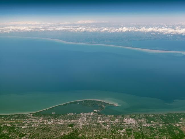 Lake Erie is the fourth largest of the five Great Lakes.