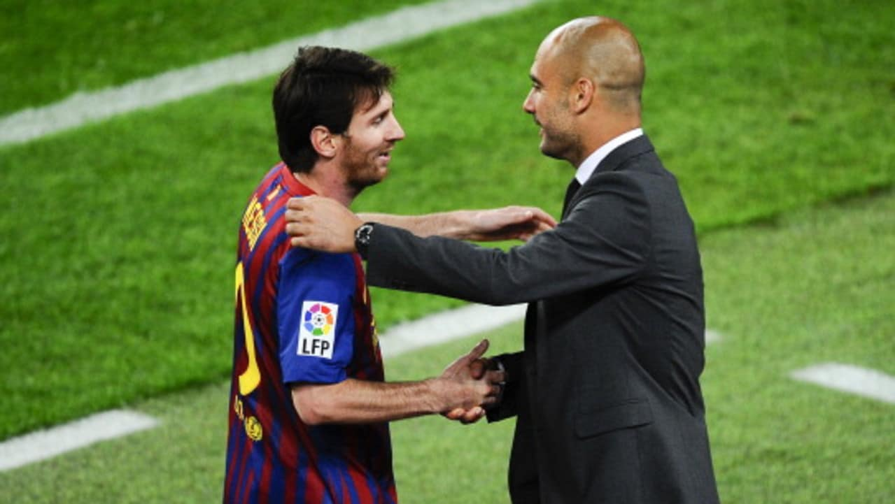 Lionel Messi became the world's best player under Pep Guardiola.​
