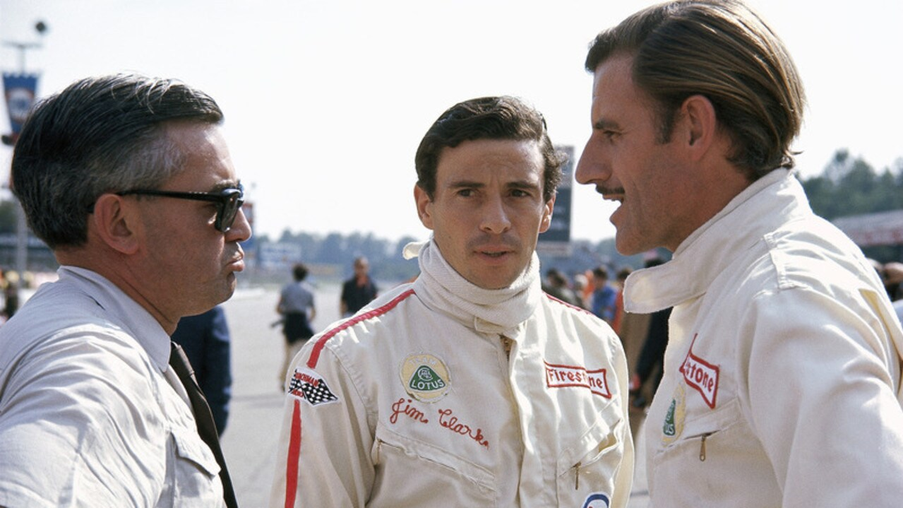 Clark and Hill were teammates at Lotus. Pic: LAT Images