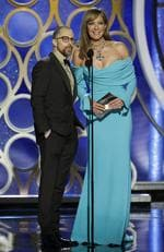 Presenters Sam Rockwell and Allison Janney speak onstage during the 76th Annual Golden Globe Awards on January 6, 2019 in Beverly Hills, California. Picture: Getty