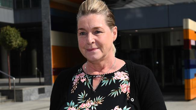 Jacqueline McDowall at the Royal Commission in Melbourne on April 19. Picture: AAP Image/Julian Smith