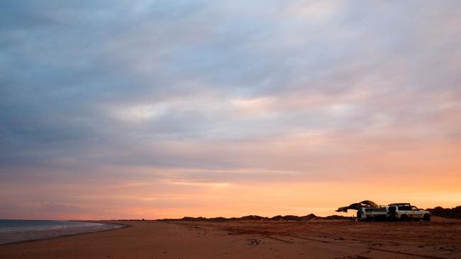Cable Beach proved to be an excellent spot for a stop. Picture: Leah McLennan