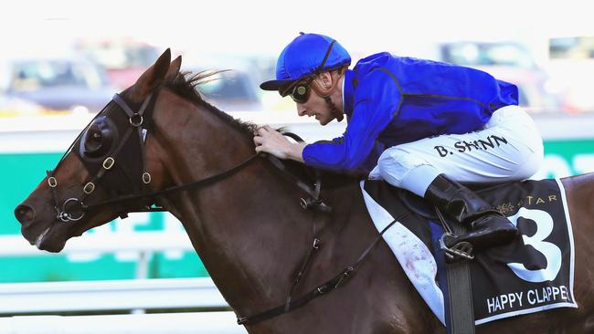 Blake Shinn and Happy Clapper turned the Chipping Norton into a brilliant spectacle. Picture: Getty
