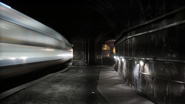 One of the abandoned train tunnels at St James. Picture: John Fotiadis
