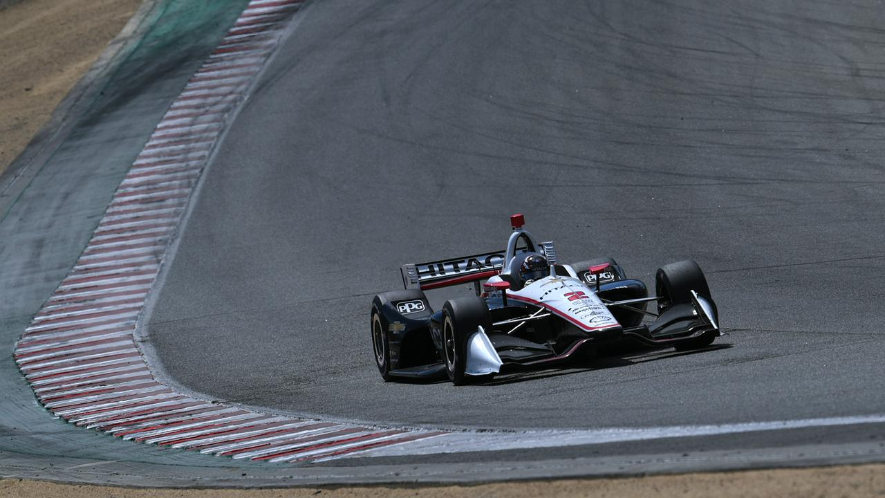 Newgarden races at Laguna Seca in September.