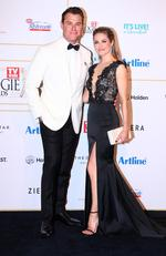 Rodger Corser and wife Renae Berry arrive at the 60th Annual Logie Awards at The Star Gold Coast on July 1, 2018 in Gold Coast, Australia. Picture: Chris Hyde/Getty Images