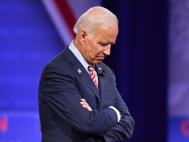 Joe Biden's campaign has been weighed down by corruption allegations involving his son. Picture: AFP