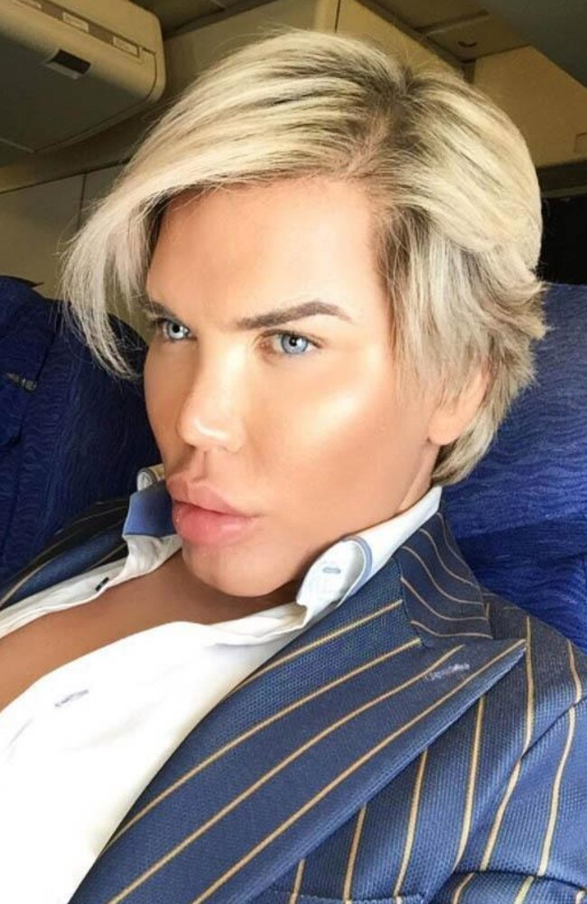 He has had 72 cosmetic surgeries but is now looking at ones that don't involve general anaesthesia in order to maintain his look Picture: Rodrigo Alves