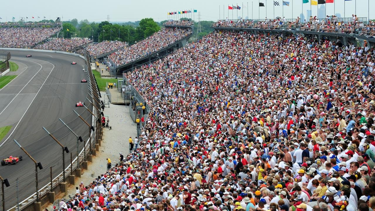 The record crowd at the Indy 500 is said to be around a mind-blowing 350,000.